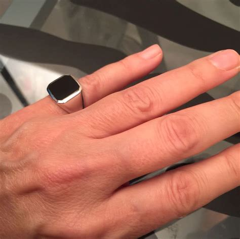 sterling silver wedding bands ring signet ring onyx ring silver signet ring black