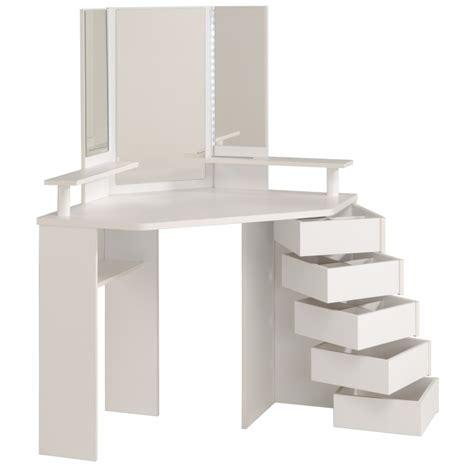 bureau maquilleuse coiffeuse d 39 angle volage 12 ton blanc sb meubles discount