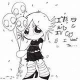 Gloom Ruby Coloring Google Anime Deviantart Sheets Dark Sketches Designlooter sketch template