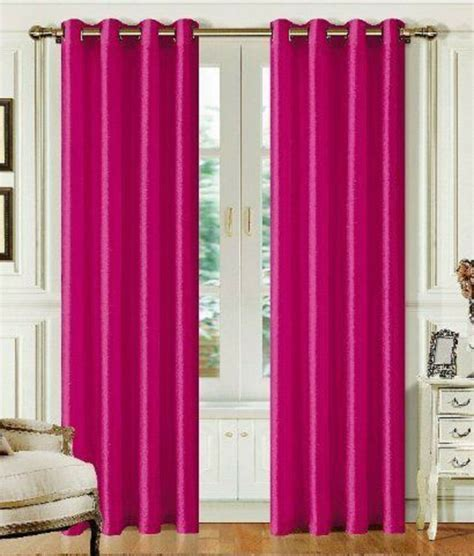 Pink Curtains by Two Faux Silk Pink Grommet Window Panel Curtain Drape