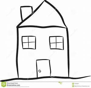 Haus Strichzeichnung Einfach : bescheidenes haus vektor abbildung illustration von skizzieren 12025567 ~ Watch28wear.com Haus und Dekorationen