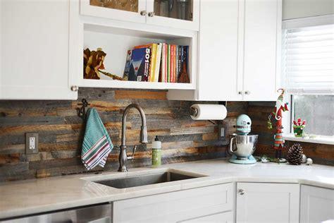 Reclaimed Wood Backsplash Kitchen Kitchen Backsplash