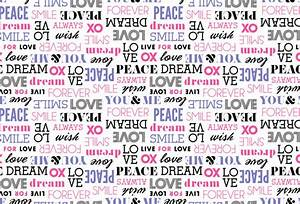 Shop Peace Love Word Wallpaper in Text & Words Theme