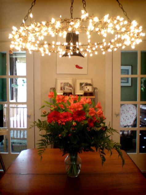 grosgrain hanging chandelier diy