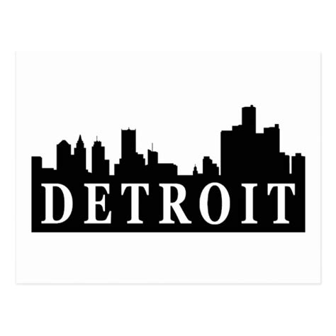 Detroitskyline Postkarten Zazzle