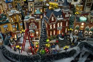 photographing a miniature christmas city by department 56 masqueman photography and design