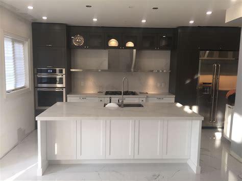 Calacatta nuvo caesarstone kitchen, island and backsplash
