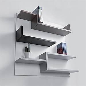 Etagere Murale Chambre : tag re murale design blanc 100 x 100 cm myshelf biblioth que vidence d co paris ~ Preciouscoupons.com Idées de Décoration