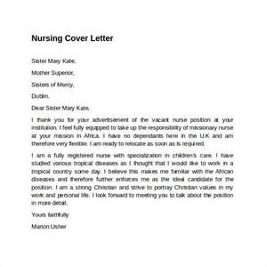 nursing resume cover letter template free sle nursing cover letter template 8 free documents in pdf word