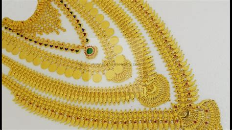 latest kerala style necklace set  ideas youtube