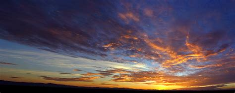 arizona sunrise panorama     stock photo public