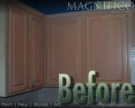 Pickled Oak Cabinets Before And After by Builder Grade Oak Cabinets With Pickled Oak Stain Before