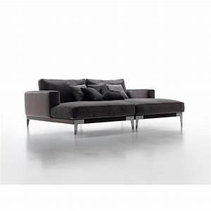 le canape avec chaise longue italien ridgecrest cuir ou tissu With tapis de gym avec canapé design italien tissu