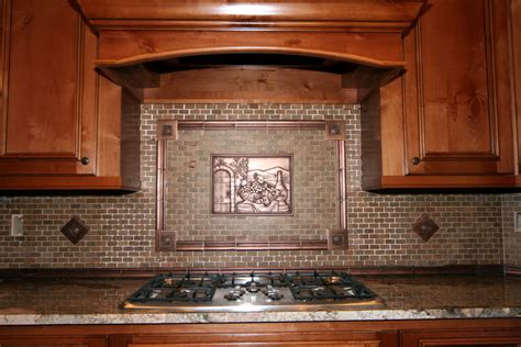 copper backsplash tiles for kitchen kitchenbacksplash kitchen decor with copper tuscan