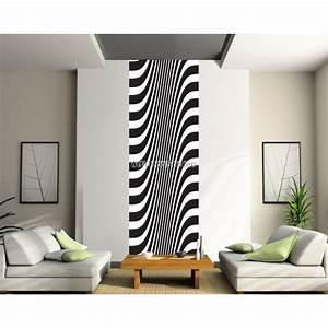 Papier Peint Rayé Noir Et Blanc : papier peint l unique noir et blanc stickers muraux deco ~ Dailycaller-alerts.com Idées de Décoration
