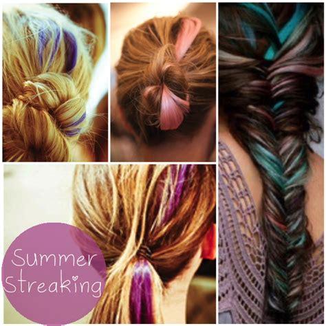 hair color streaks summer streaking glitter inc glitter inc