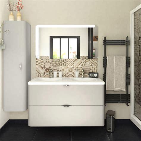 meuble de salle de bains de 100 224 119 blanc beige naturels neo shine leroy merlin