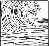 Tsunami Ocean Waves Coloring Pages Wave Drawing Surfing Template Drawings Simple Sketch Sketchite Printable Beach Line Great Adult Colorear Para sketch template