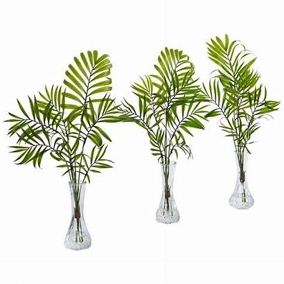 Artificial Vase Palm Plant Nearly Natural Homedepot