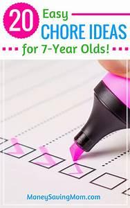 Money Earning Chore Chart 20 Chore Ideas For 7 Year Olds Money Saving