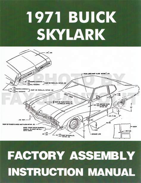 Buick Assembly Manual Reprint Skylark Gran Sport