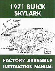 1971 Buick Assembly Manual Reprint Skylark Gran Sport Gs Sportwagon