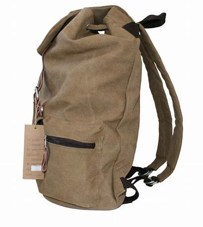 Backpack Canvas Cotton Side Camel Buckles Bags