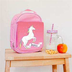children's personalised magical unicorn lunch bag by the ...