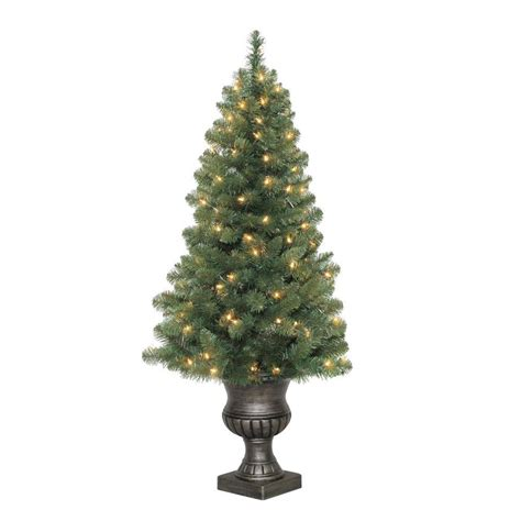 4 foot white christmas tree living 4 ft pre lit arctic pine artificial tree with 100 constant white clear