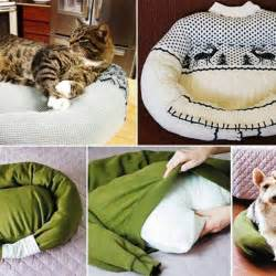 keep cat bed how to make a cat bed from an sweater 6 steps cats