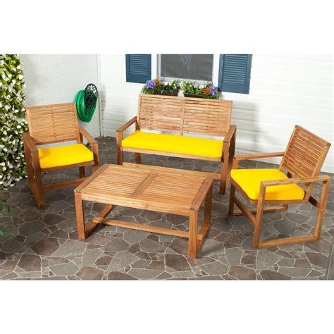 safavieh ozark 4 patio seating set with yellow