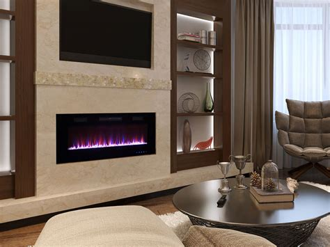 in wall electric fireplace latitude 42 in wall mount electric fireplace self42btfv