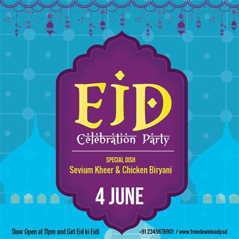 eid flyer social media template freedownloadpsdcom