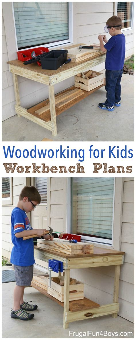 kids workbench plans build   kids woodworking