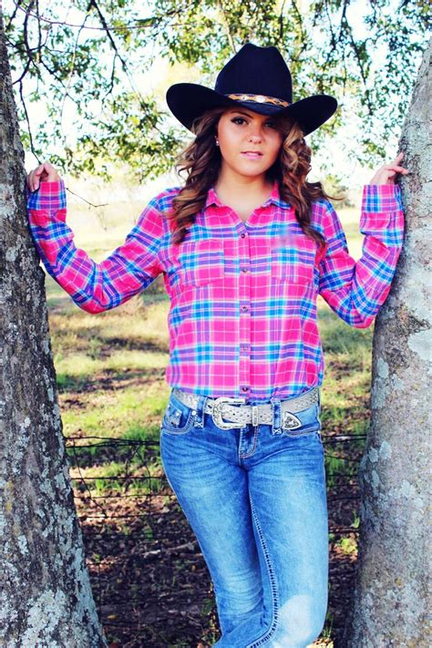 cowgirl pink flannel  rock revival jeans country girl