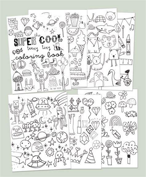 printable mini coloring book the tiny totem blog