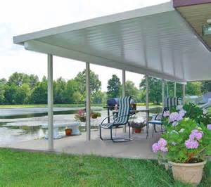 Roll Up Patio Shades by Teton Patio Cover With Flat Roof Panels