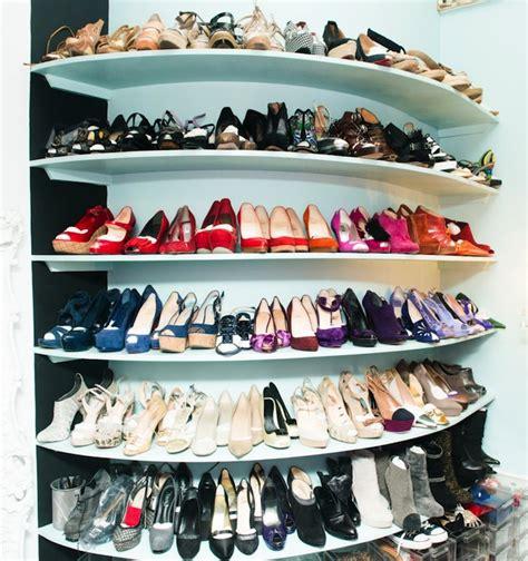 built in shoe shelves contemporary closet the coveteur