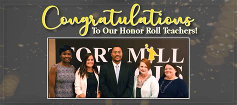 fmsd announces honor roll teachers fort mill school district