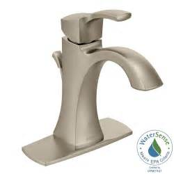 moen voss single hole 1 handle high arc bathroom faucet in