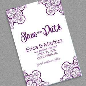 FREEDownload Save the Date with Vintage Ornament