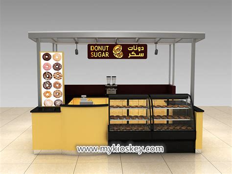 mall food donut kiosk  bakery display showcase