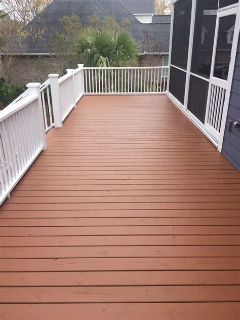 deck stained  sherwin williams superdeck semi solid