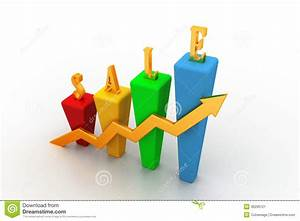 3d Bar Chart And Sales Growth Stock Image