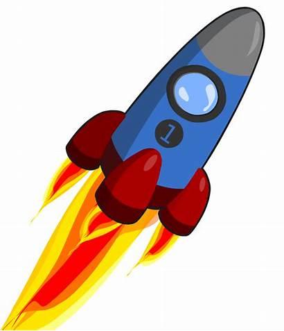 Rocket Clipart Clip Animation Animated Ship Transparent