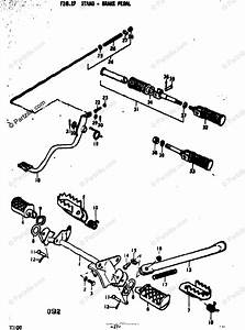 Suzuki Motorcycle 1973 Oem Parts Diagram For Stand