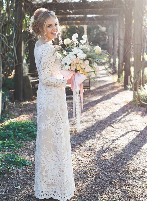 vintage bohemian wedding inspiration introducing lost in wedding dresses for the