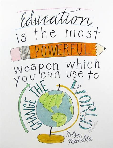 education    powerful weapon wh nelson mandela