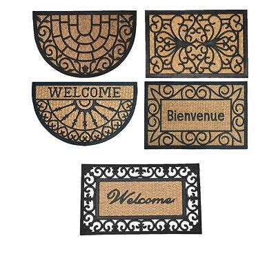 braided coir doormat evideco sheltered front door mat braided coir coco