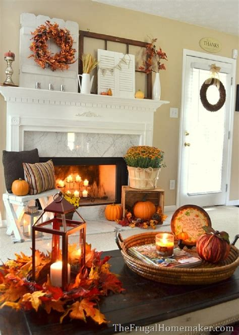 cozy fall fireplace decor ideas  steal